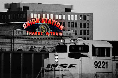 Photograph - Neon Union Station by Kevin Munro