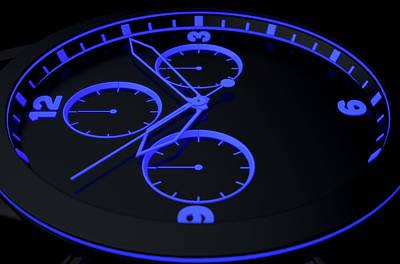 Focus Digital Art - Neon Watch Face by Allan Swart