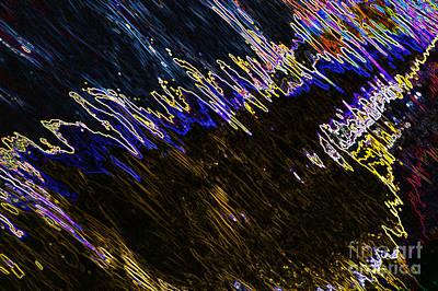 Digital Art - Neon - Water Reflections by Wendy Wilton