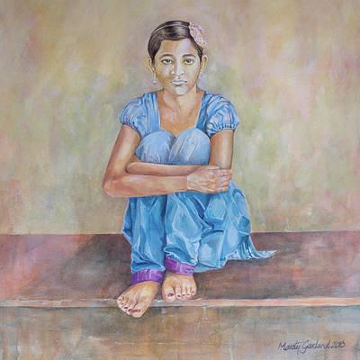 Nepal Girl 4 Art Print by Marty Garland