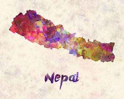 Nepal Painting - Nepal In Watercolor by Pablo Romero