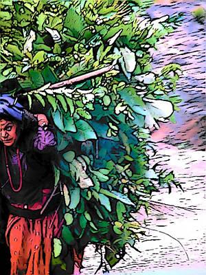 Digital Art - Nepal by Lisa Dunn