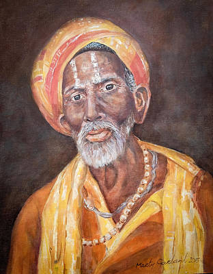 Painting - Nepal Man 1 by Marty Garland