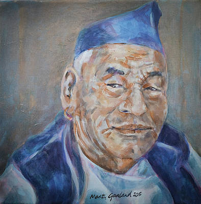 Painting - Nepal Man 2 by Marty Garland