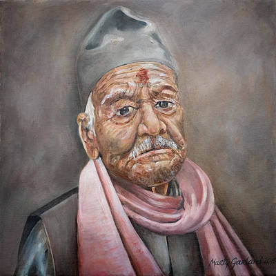 Painting - Nepal Man 4 by Marty Garland