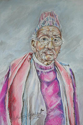 Painting - Nepal Man 5 by Marty Garland