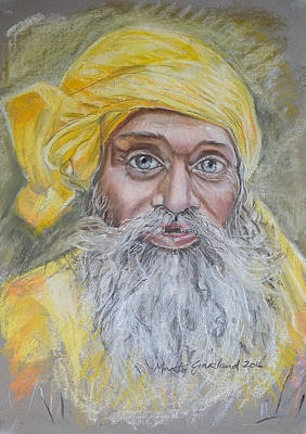 Marty Painting - Nepal Man 6 by Marty Garland