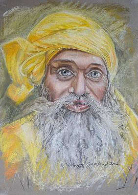 Nepal Man 6 Art Print by Marty Garland