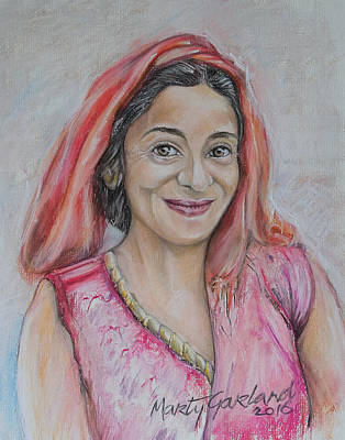 Painting - Nepal Woman 1 by Marty Garland