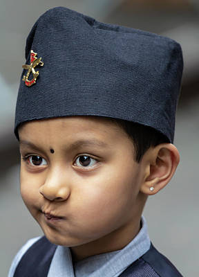 Photograph - Nepalese Day Nyc 2018 Nepalese Boy by Robert Ullmann
