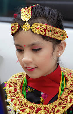 Photograph - Nepalese Day Nyc 2018 Nepalese Girl In Tradtional Dress by Robert Ullmann