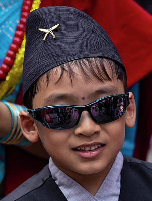 Photograph - Nepalese Day Nyc 2018 Nyc Nepalese Boy by Robert Ullmann