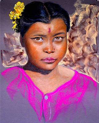 Nepalese Girl Art Print by David  Horning