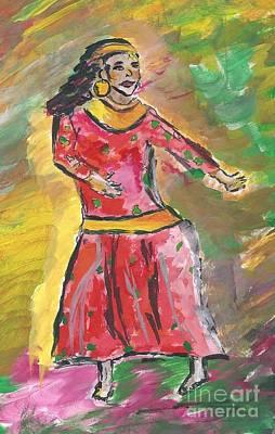 Nepali Painting - Nepali Dancer by Elizabeth Briggs