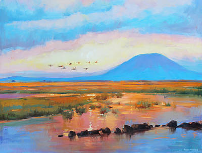 Mayo Painting - Nephin Dawn 2 by Conor McGuire