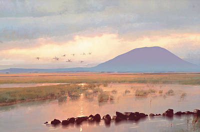 Realistic Pastel Painting - Nephin Dawn by Conor McGuire