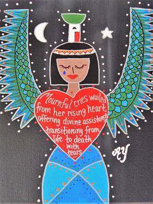 Painting - Nephthys by Angela Yarber