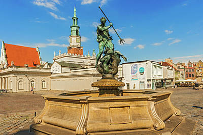 Photograph - Neptun Fountain In Poznan, Poland by Marek Poplawski