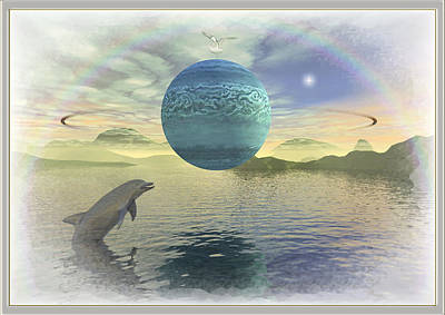 Digital Art - Neptune by Harald Dastis