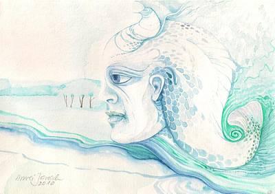 Neptune Art Print by Amrei Al-Tobaishi-Jarosch