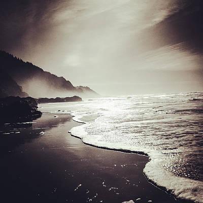 Photograph - Neptune Beach, Oregon by Mickey Stellavato
