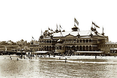 Photograph - Neptune Casino And Onion-domed Bandstand, Santa Cruz Beach Circa 1904 by California Views Mr Pat Hathaway Archives