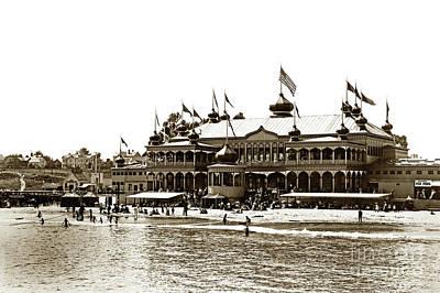 Photograph - Neptune Casino And Onion-domed Bandstand, Santa Cruz Beach Circa 1904 by California Views Mr Pat Hathaway Archives