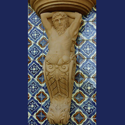 Sculpture - Neptune Corbel by Jacqueline Del  Fonso