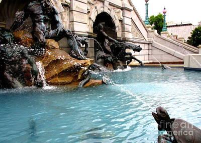 Neptune Fountain 2 Art Print by Randall Weidner