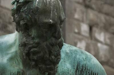 Neptune Statue 3 Art Print