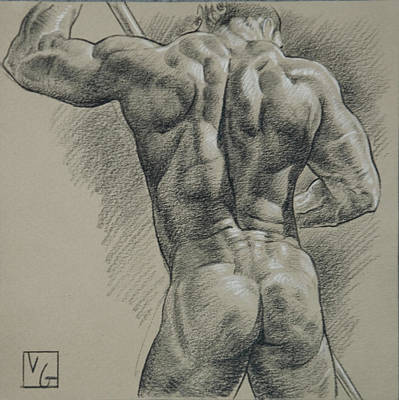 Hunk Drawing - Neptune by Victor Gadino