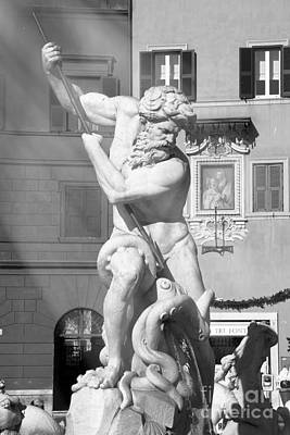 Neptune Vs Octopus - Piazza Navona In Rome Art Print by Stefano Senise