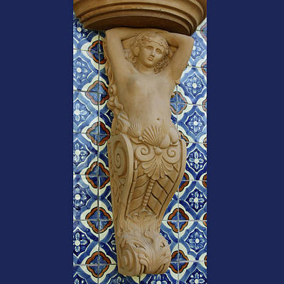 Sculpture - Neptunes Daughter Corbel by Jacqueline Del  Fonso