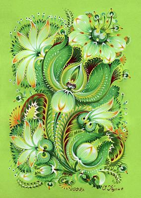 Neptunes Flowers Art Print by Olena Kulyk