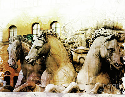 Florence Painting - Neptune's Horses by Diana Van