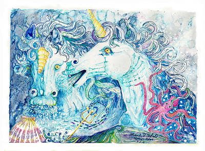 Neptune's Horses Art Print by Melinda Dare Benfield