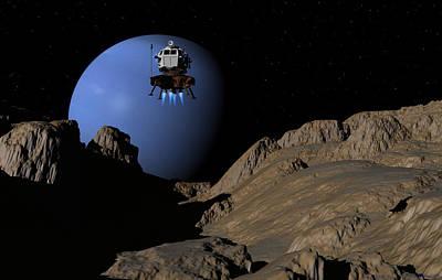 Neptunes Moon Proteus Art Print