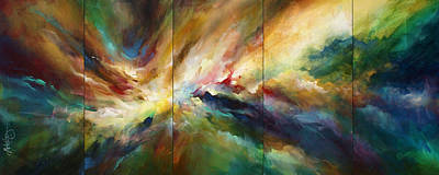 Turbulence Painting - 'neptunes Pass' by Michael Lang