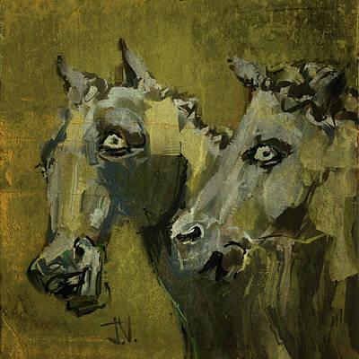 Digital Art - Neptunes Ponies by Jim Vance