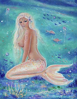 Painting - Nerea Mermaid by Renee Lavoie
