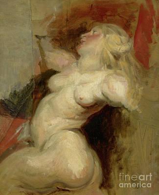 Painting - Nereid Copy After Rubens by Ferdinand Victor Eugene Delacroix