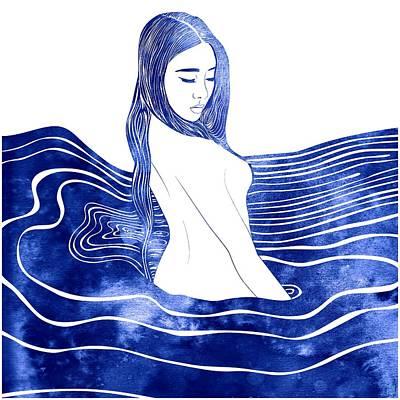 Goddess Mythology Mixed Media - Nereid Xii by Stevyn Llewellyn