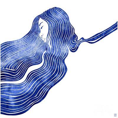 Mermaid Mixed Media - Nereid Xiv by Stevyn Llewellyn