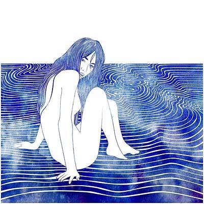 Mermaid Mixed Media - Nereid Xxxv by Stevyn Llewellyn