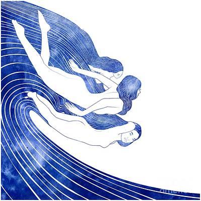 Goddess Mythology Mixed Media - Nereids by Stevyn Llewellyn