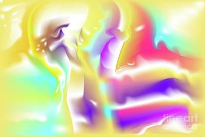 Wall Art - Digital Art - Nescius - Abstract Art Print On Canvas - Digital Art - Fine Art Print - Decorative by Ron Labryzz