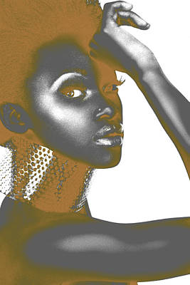 Brown Digital Art - Nesha by Naxart Studio