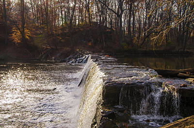 Philadelphia Photograph - Neshaminy Falls In Autumn by Bill Cannon