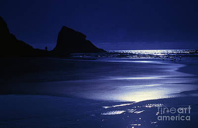 Photograph - Neskowin Beach By Moonlight by Rick Bures