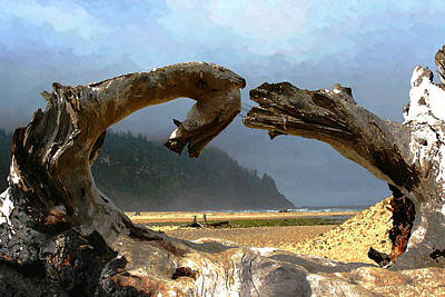 Driftwood Beach Fog Wall Art - Photograph - Neskowin Beach Oregon by Margaret Hood